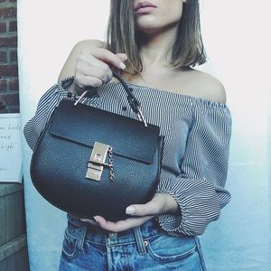 🆕Talia Black Top-Handle Bag & Crossbody Bag